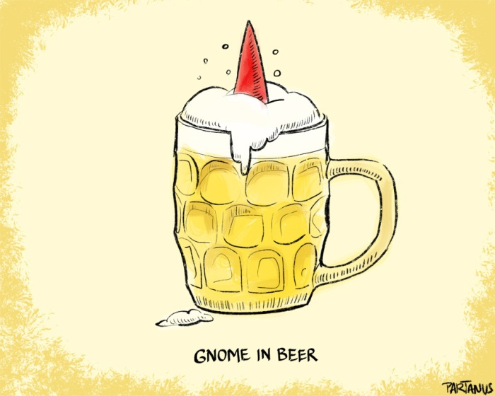 gnome beer glass alcoholic