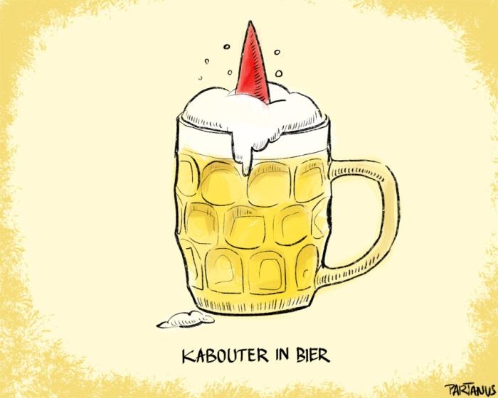 kabouter alcoholieker bier bierglas