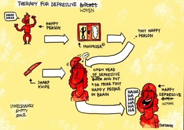 therapie voor depressieve wijven