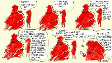 bully parents self esteem cartoon fat daughter evil unconditional love