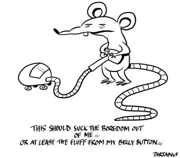 Horst cartoon boredom vacuum cleaner