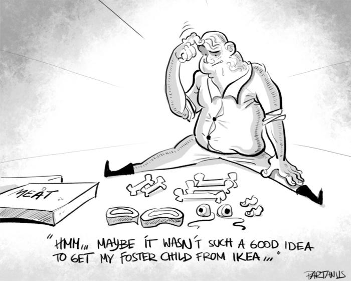 """cartoon """"foster child"""" ikea"""