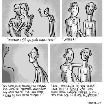 "cartoon, republikeinen, Rick Santorum, ""gay bashing"", homo huwelijk"