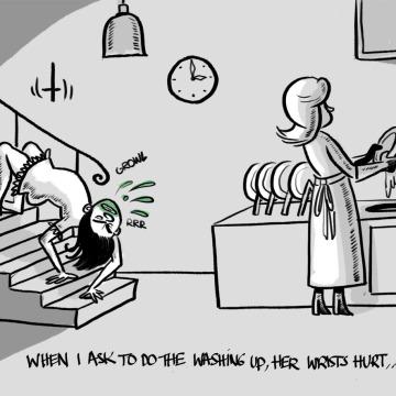 """wrists, cartoon, """"washing up"""", """"the exorcist"""""""