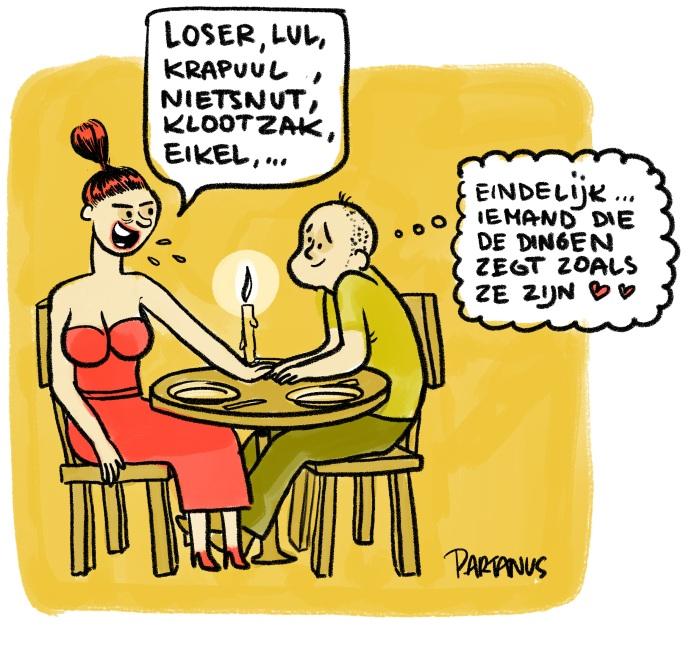 liefde, waarheid, diner, etentje, frank, eerlijkheid